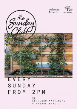 Sunday club event poster