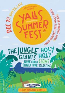 yalls summer fest event poster design