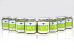 churna spice jar label design