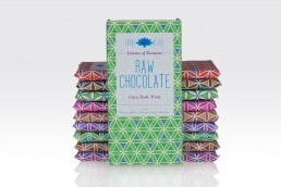 raw chocolate packaging design