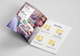 PYIA branding brochure design