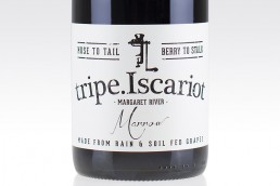 tripe iscariot wine label design