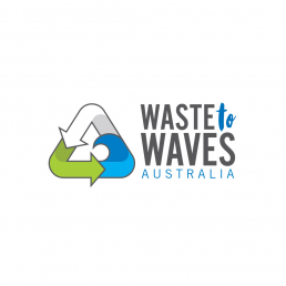 waste to waves logo design
