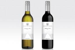 RRV winery wine label design