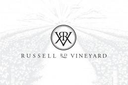 RRV winery branding monogram logo design