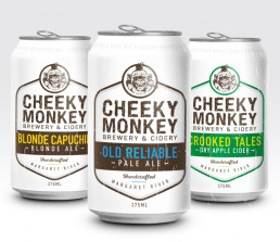 cheeky monkey beer can design