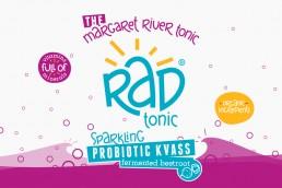 Rad Tonic label design