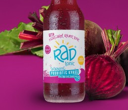 rad tonic branding & label design